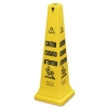 "RUBBERMAID Multi-Lingual ""Caution, Safety Cone - ""Wet Floor"" Imprint"