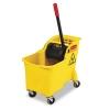 RUBBERMAID Commercial Tandem™ 31-Quart Bucket/Wringer Combo - Yellow