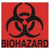 RUBBERMAID Decal Fluorescent  - Biohazard Red for Waste Containers, 6w x 5 3/4h