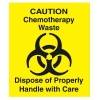 RUBBERMAID Yellow Decal Chemotherapy for Waste Containers - 6w x 6h