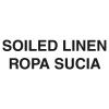 "RUBBERMAID Bilingual Label ""Soiled Linen"" for Waste Containers - 7w x 10h"