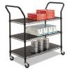 RUBBERMAID Wire Utility Cart - Black, 3-Shelf