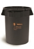 SSS EarthCare PCR Utility Can - 44 Gal., Black