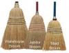 "SSS #26 Janitor Corn Broom - Handle: 38"" Wood"