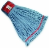 "SSS MicroTec 4-Ply Looped-End Wet Large Mop - 5"" HB, Blue"