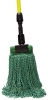 "SSS MicroTec 4-Ply Looped-End Wet Large Mop - 5"" HB, Green"