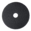 "SSS Black Stripper Floor Pad 7200 - 13"" Diameter"