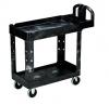 SSS 2-Shelf Utility Cart w/Lipped Shelf - 500 lb., Gray