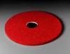 """SSS 12"""" Red Spray Buffing Floor Pad - 5/CS"""