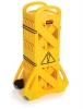 SSS Rubbermaid 9S11 Portable Mobile Pedestrian Barrier - Yellow, 13 feet