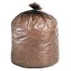 Eco-Degradable Plastic Trash Bags - 39 Gal, Brown