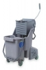 UNGER Gray Mop Bucket with Wringer - 8 Gallon